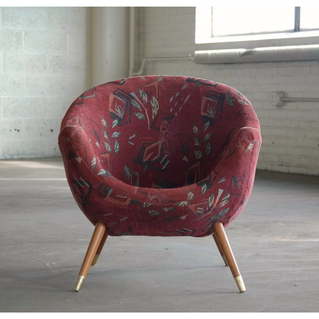 Italian 1960's Italian Lounge Chair in the Style of Gio Ponti Ca. For Sale - Image 3 of 13
