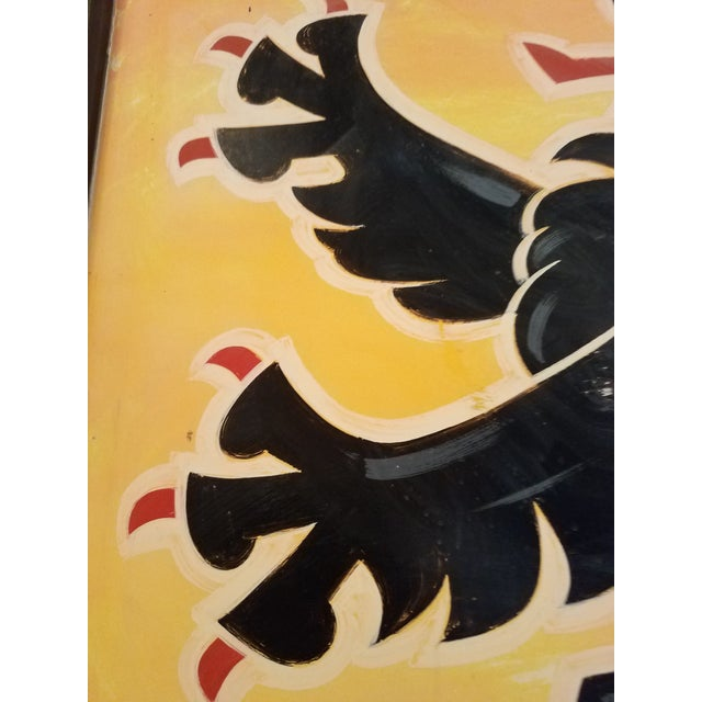 """Double-Sided, Hand Painted Metal UK Pub Sign - """"Black Lion"""" For Sale - Image 12 of 13"""