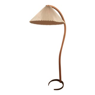 Danish Modern Bentwood Maple & Iron Floor Lamp