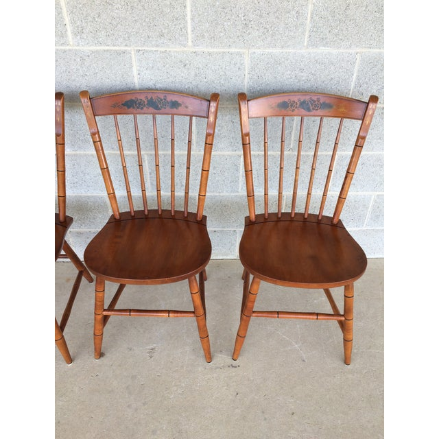 L Hitchcock Harvest Paint Decorated Birdcage Style Chairs