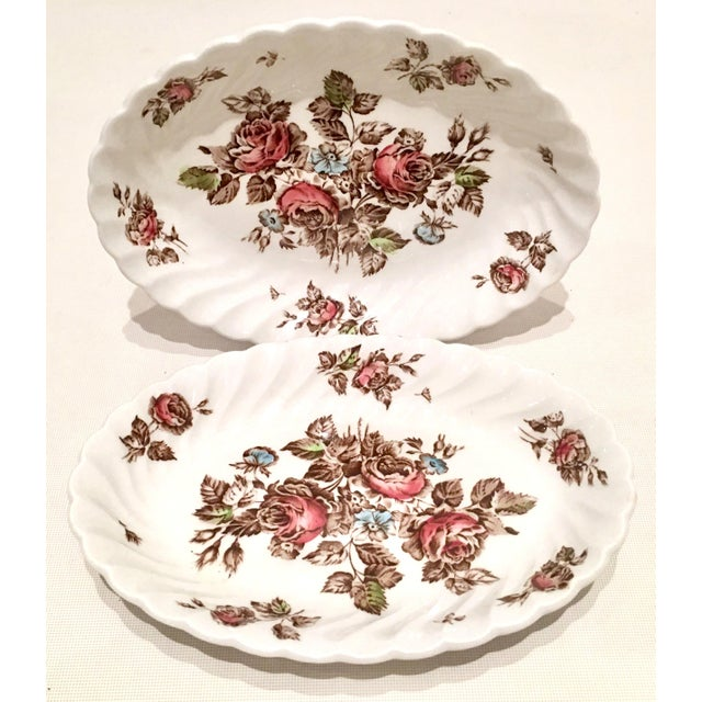 "Mid 20th Century Vintage English Ironstone ""Devon Sprays"" Dinnerware by Johnson Brothers - Set of 16 For Sale - Image 5 of 12"