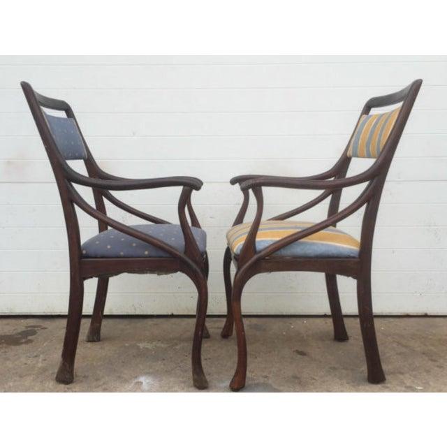 Art Nouveau Style Vintage Chairs - A Pair - Image 5 of 6