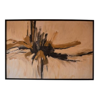Mid-Century Modern Abstract Wall Art Painting For Sale