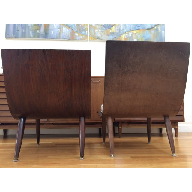 White Mid-Century Carter Scoop Chairs - Pair For Sale - Image 8 of 8