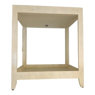 Contemporary Komodo White Side Table For Sale