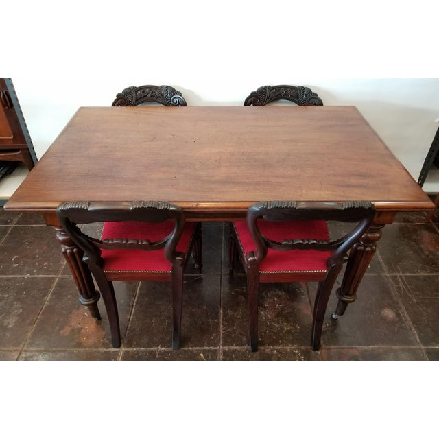 Wood Set of Four Georgian / Regency / William IV / Victorian Rosewood Chairs Attributed to Gillows of Lancaster For Sale - Image 7 of 10