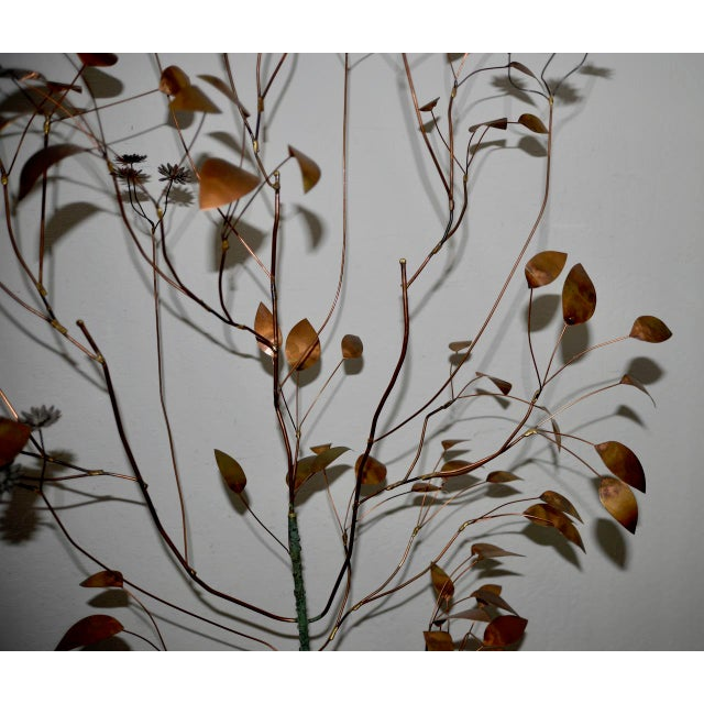 Mid-Century Modern 1960s Copper Metalwork Free Standing Tree by Curtis Jere For Sale - Image 3 of 9