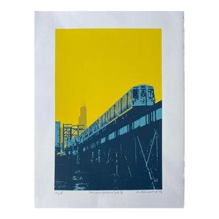 """Milwaukee and 606 II"" Contemporary Serigraph by Hiroshi Ariyama Serigraph For Sale"