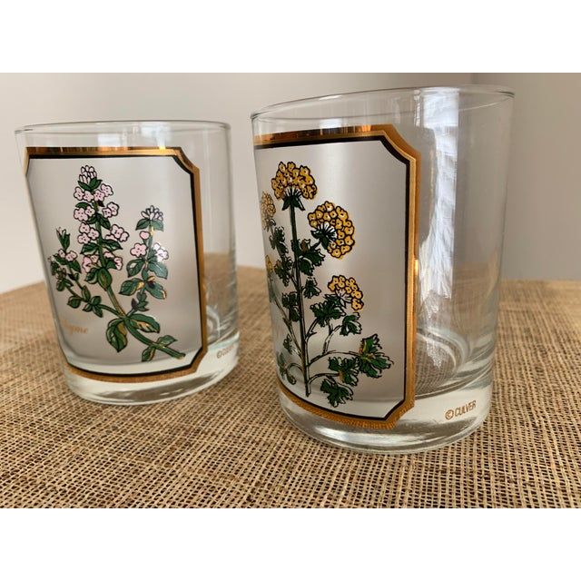 1950s Vintage Culver 'Thyme & Parsley' Old Fashion Glasses - a Pair For Sale - Image 11 of 12