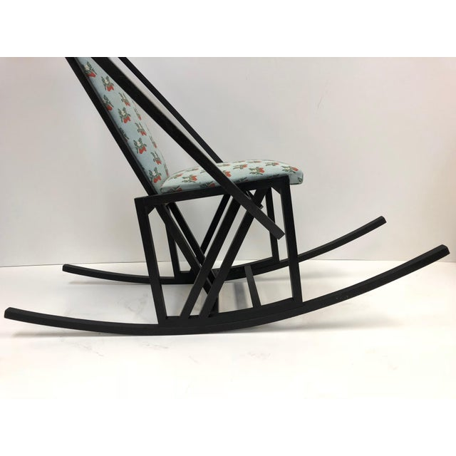 1960s Unique Japanese Rocking Chair For Sale - Image 5 of 7