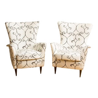 1950 Paolo Buffa Style Chairs - a Pair For Sale