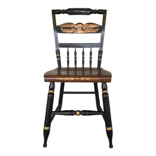 L. Hitchcock Black Eagle Back Inn Chair For Sale
