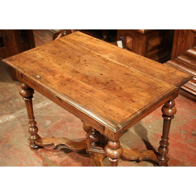Late 18th Century French Walnut Side Table For Sale - Image 4 of 10