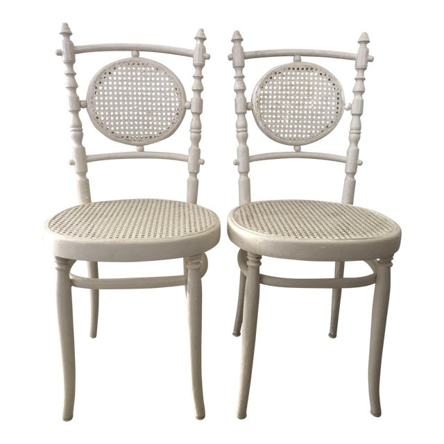 Antique 1913 Fischel Bentwood French Bistro Chairs - a Pair For Sale