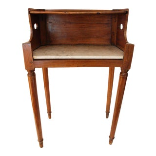 19th Century Fruitwood Book Table with Marble Shelf
