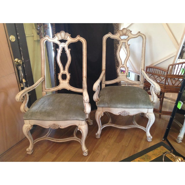 Carved Italian Armchairs - A Pair - Image 2 of 9