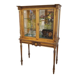 Early 20th Century Gold Gilt-Wood Vitrine