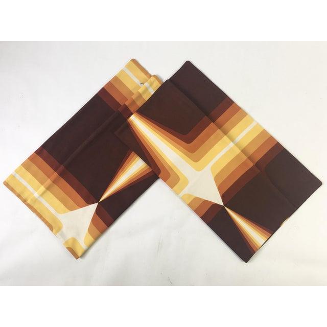 1970s Geometric Custom Euro Shams - a Pair - Image 4 of 9