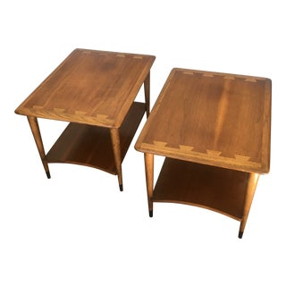 1960s Danish Modern Lane Furniture Andre Bus Acclaim Series Side Tables - a Pair For Sale