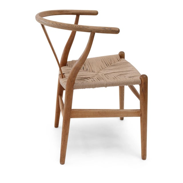1980s Wishbone Armchairs by Hans Wegner For Sale - Image 5 of 13