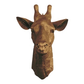 Wall Charmers Faux Bronze Giraffe Head Wall Sculpture