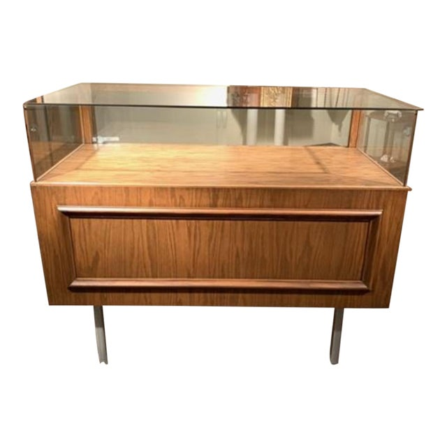 20th Century Danish Store Display Cabinet Case Credenza For Sale