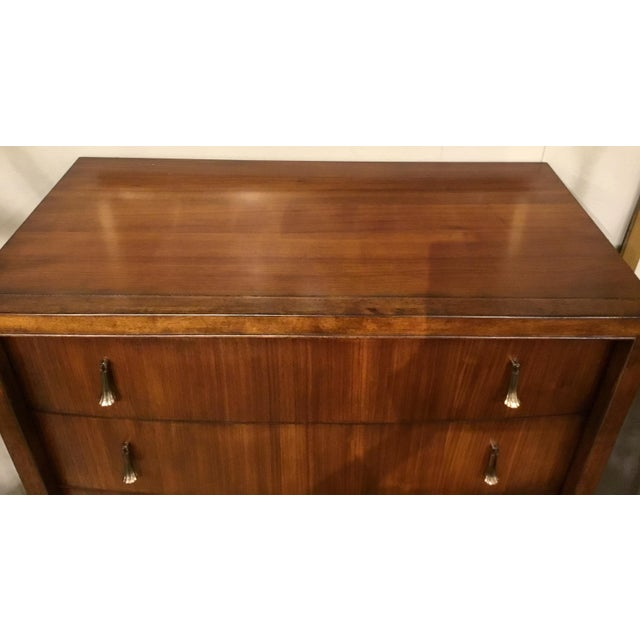 Traditional Transitional Drexel Heritage Sculpted Drawer Chest For Sale - Image 3 of 9