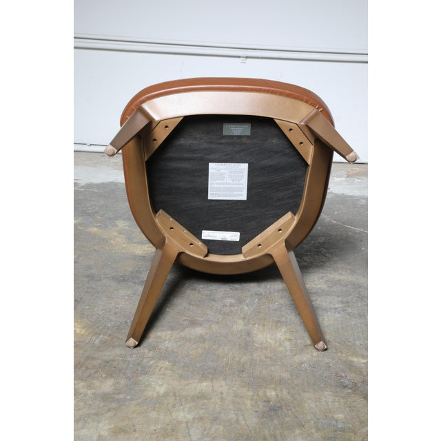 Mid-Century Modern Cumberland Clover Brown Upholstered Maple Base Guest Chair For Sale In Los Angeles - Image 6 of 8