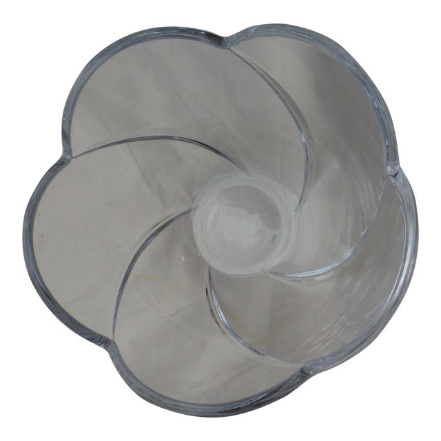 Mid-Century Lead Crystal Organic Glass Bowl - Image 1 of 10