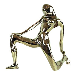 1980s Jaru Chrome Abstract Nude Figure