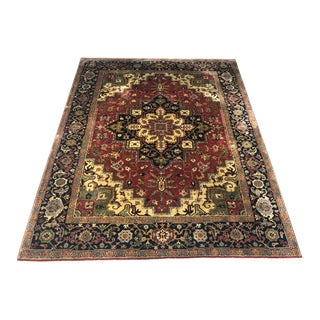 Persian Hand Knotted Wool Rug - 10′ × 8′2″ For Sale
