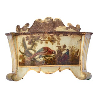 19thc French Hand Painted Tole Planter For Sale