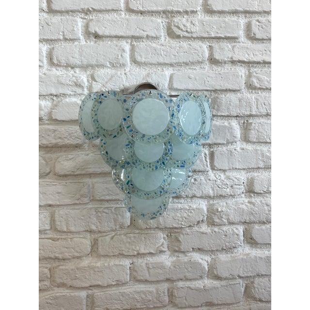 Vistosi style glass disc sconces, chrome. Vintage.