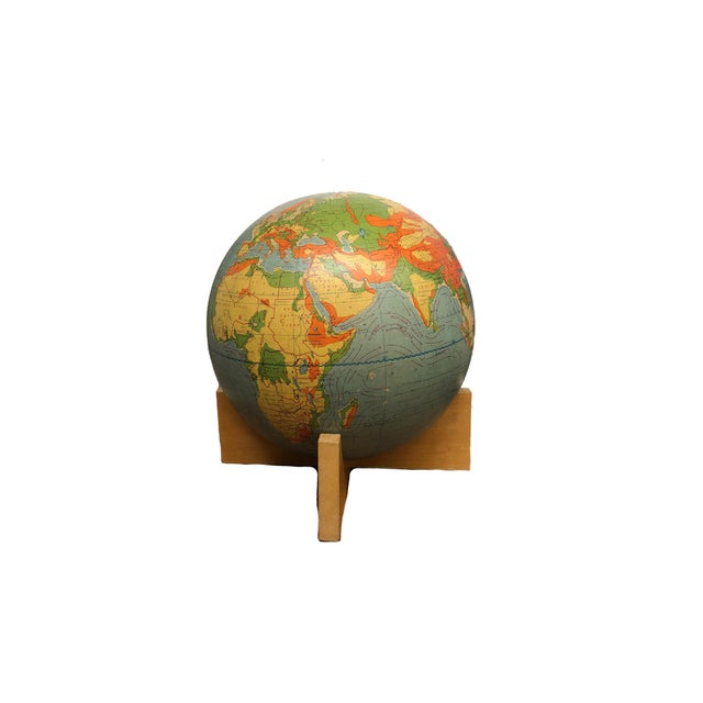 Contemporary Antique a.j. Nystrom & Company Landform Globe For Sale - Image 3 of 3