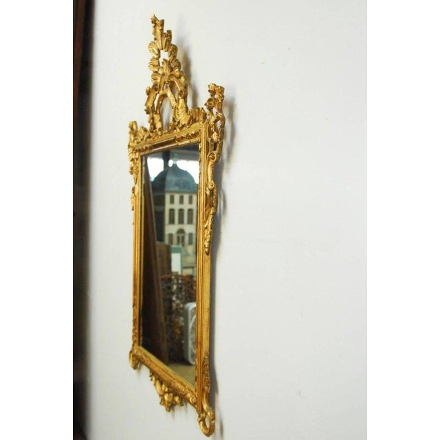19th Century Italian Rococo Style Giltwood Mirror For Sale - Image 9 of 9