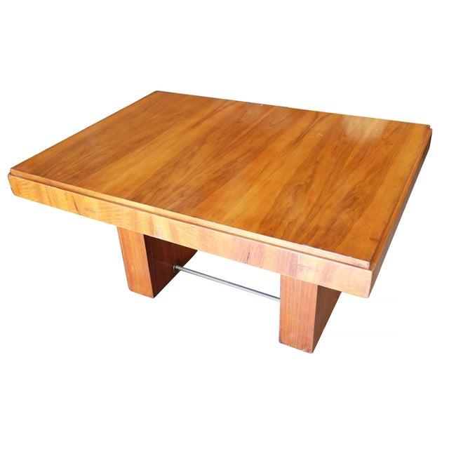 Wood Charles Dudouyt Cubist Inspired Walnut Desk For Sale - Image 7 of 10