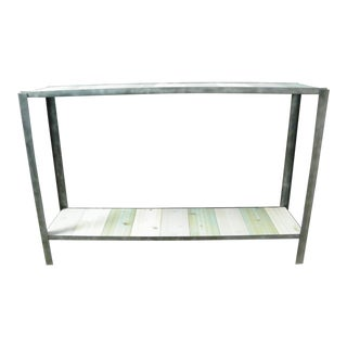 Coastal Style Handmade Industrial Console Table