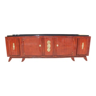 Impressive French Art Deco Rosewood Sideboard by Jules Leleu, circa 1935s For Sale