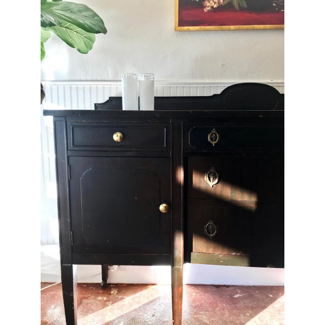 Traditional Antique Black Sideboard For Sale - Image 3 of 5