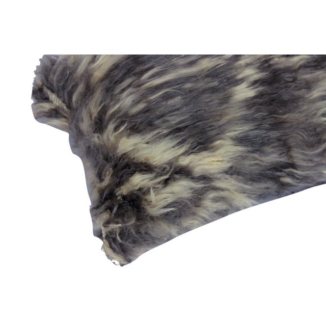 """Asian Debrah Gray/Ivory Handmade Moroccan Wool Throw Pillow(15""""x15"""") For Sale - Image 3 of 6"""
