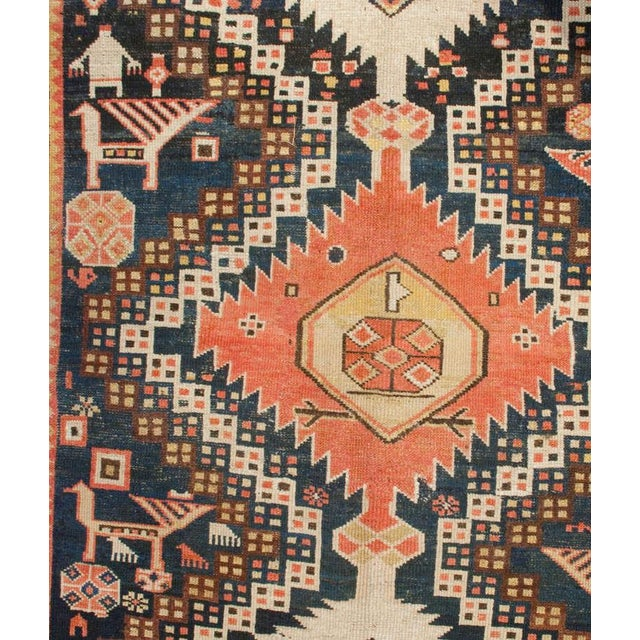 "Early 20th Century Karabagh Rug - 54"" x 113"" For Sale In Chicago - Image 6 of 6"