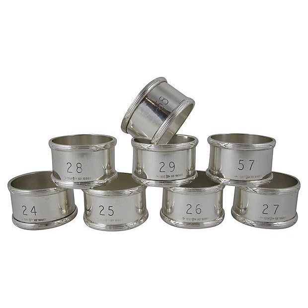 English Silver Plate Napkin Rings - Set of 8 - Image 1 of 8