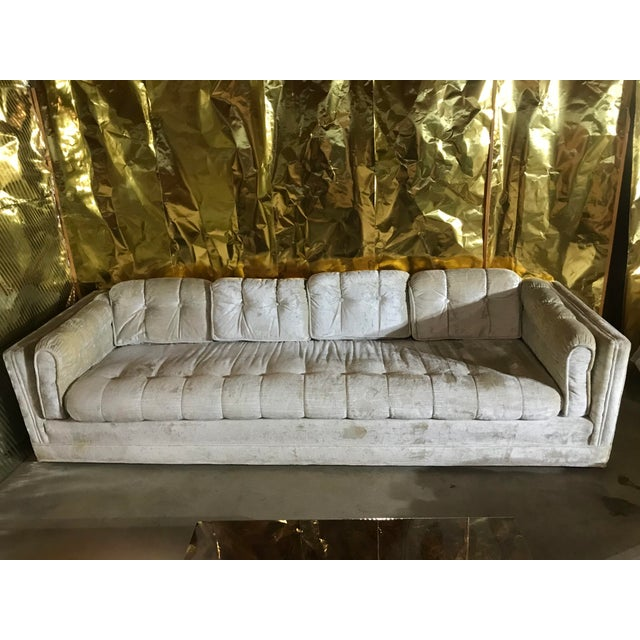 White 1970s Milo Baughman Frost White Sofa For Sale - Image 8 of 13
