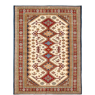 "One-of-a-Kind Traditional Hand-Knotted Area Rug 5' 1"" x 6' 8"" For Sale"