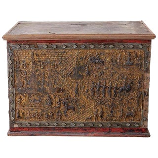 19th Century Burmese Gilded Chest or Trunk Table For Sale