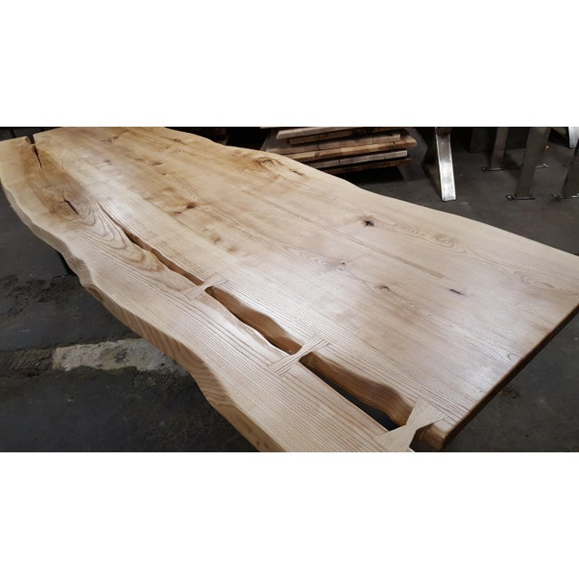 Handcrafted Siberian Ash Wood Plank Table - Image 3 of 6