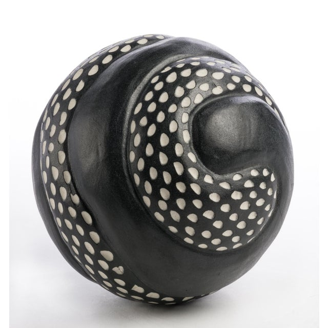 Larry Halvorsen Black & White Ceramic Bowl - Image 2 of 3