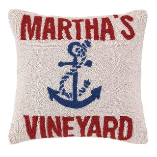 Anchored at Martha's Vineyard Hook Pillow For Sale