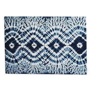 Indigo Mali Cloth Wall Panel For Sale