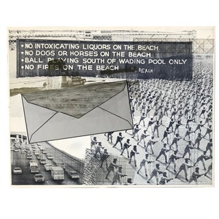 """Wort"" Composite Photo Collage by Triton Press by Robert Rauschenberg For Sale"